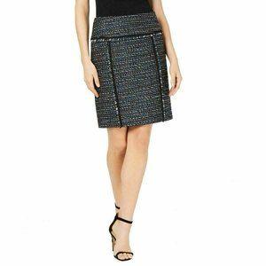 ANNE KLEIN NEW Women's Tweed Fringe Straight skirt